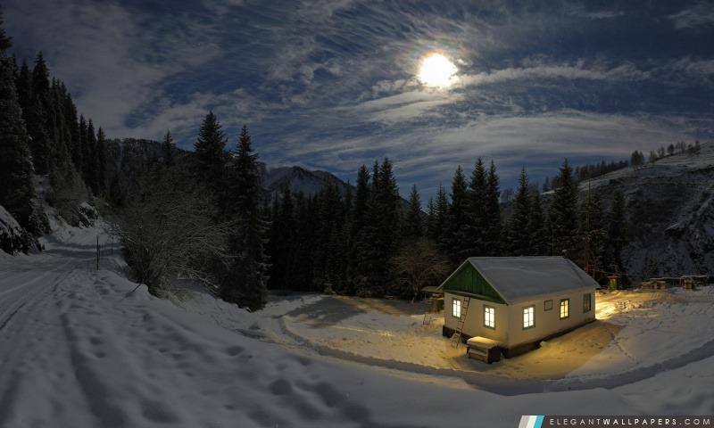 Nuit d'hiver, Arrière-plans HD à télécharger