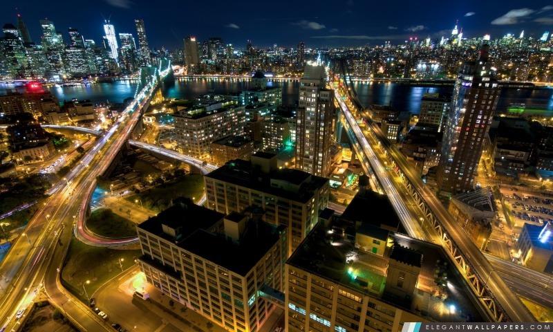 New York Par Nuit Fond Décran Hd à Télécharger Elegant