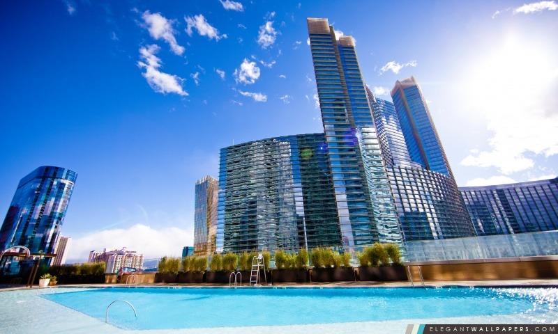 Une piscine Vue d'un cristal de Las Vegas, Arrière-plans HD à télécharger