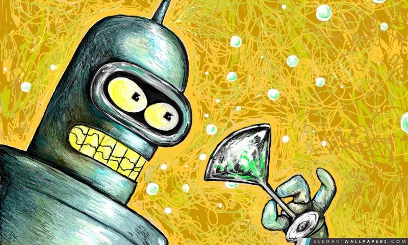 Bender de Futurama, Arrière-plans HD à télécharger