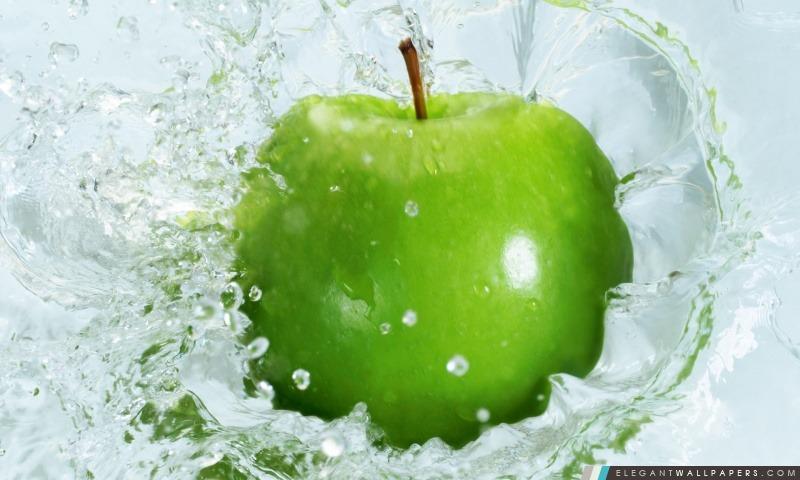 Frais Green Apple, Arrière-plans HD à télécharger