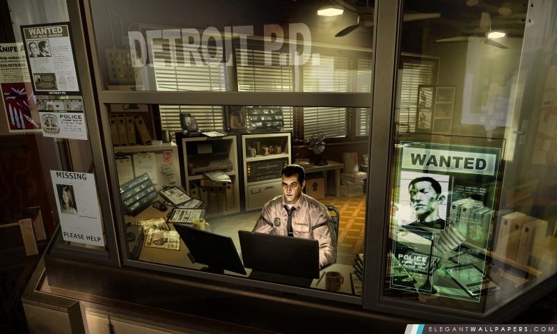 Deus Ex Human Revolution Service de police de Detroit, Arrière-plans HD à télécharger