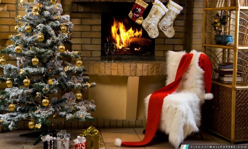 Père Noël Maison, Arrière-plans HD à télécharger