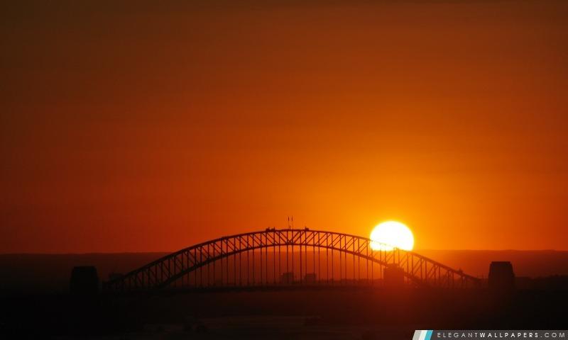 Coucher De Soleil Sur Le Pont Fond D 233 Cran Hd 224