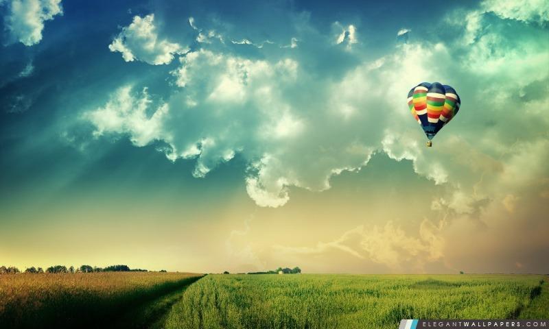 Ballons à air chauds dans l'air, Arrière-plans HD à télécharger