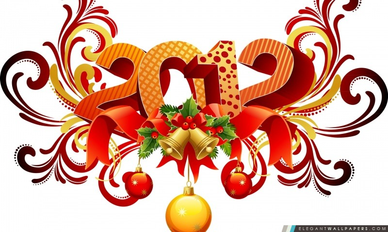 Jour de la nouvelle année 2012, Arrière-plans HD à télécharger