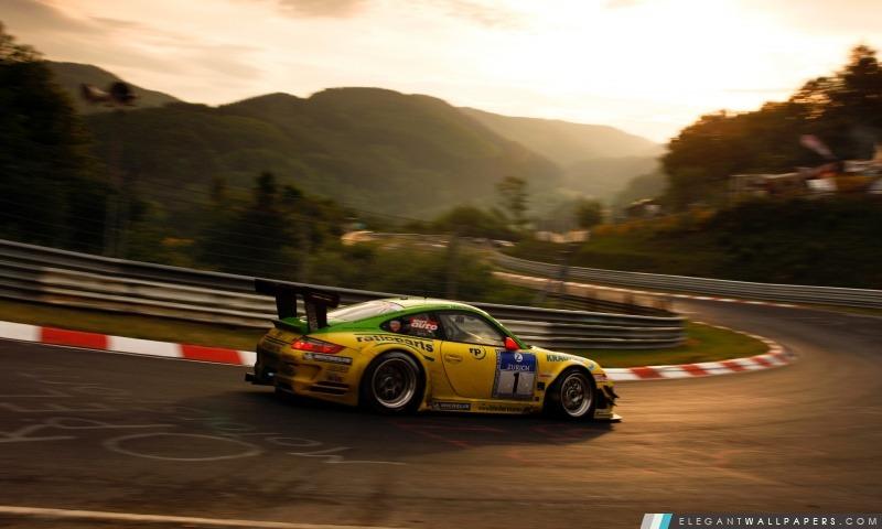 Porsche Sur Race Track, Arrière-plans HD à télécharger