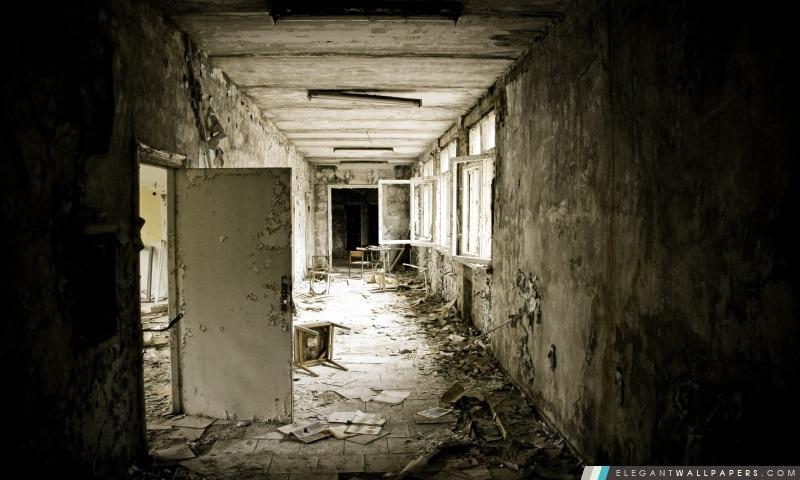 École abandonnée, Arrière-plans HD à télécharger