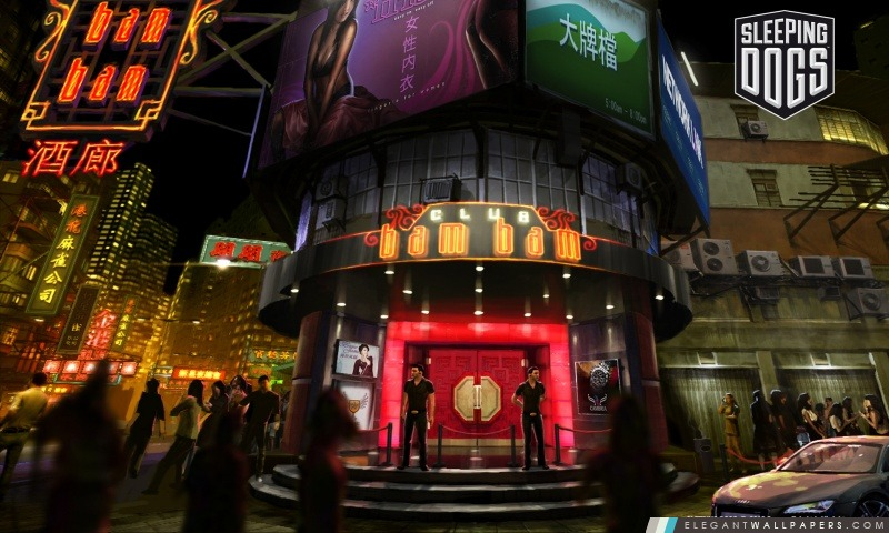 Sleeping Dogs – Clubs Bam Bam, Arrière-plans HD à télécharger