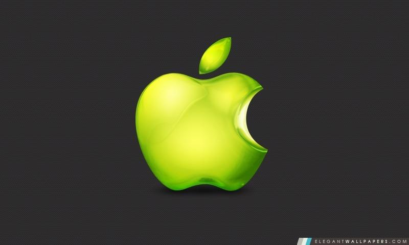 Green Apple Logo, Arrière-plans HD à télécharger