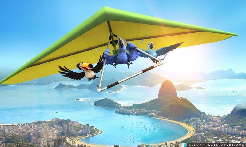 Rio Film Blu, Rafael (Toco Toucan) et Jewel, Arrière-plans HD à télécharger