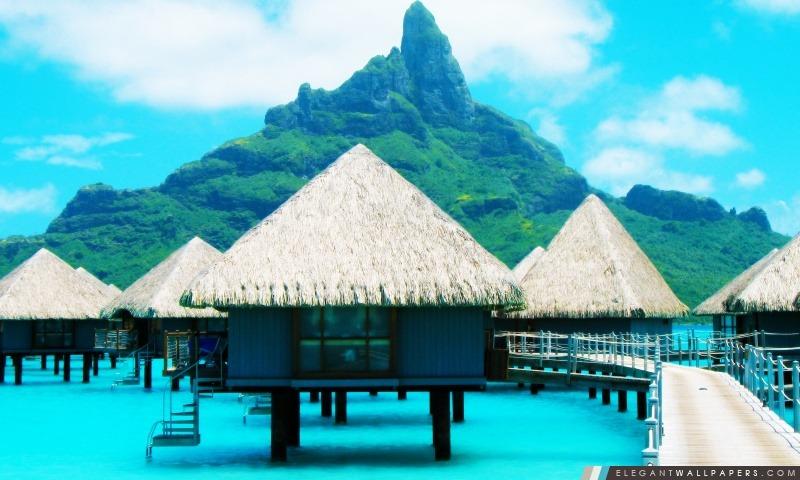 Bora Bora Resort, Arrière-plans HD à télécharger