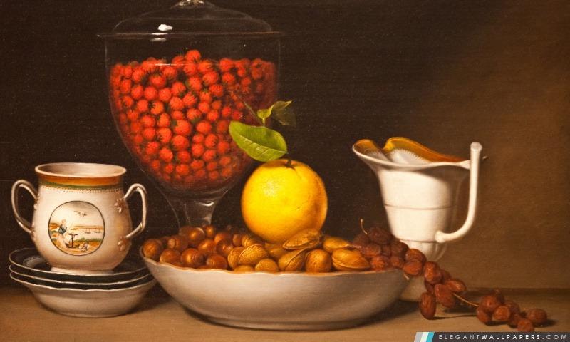 Fruits et noix, Arrière-plans HD à télécharger