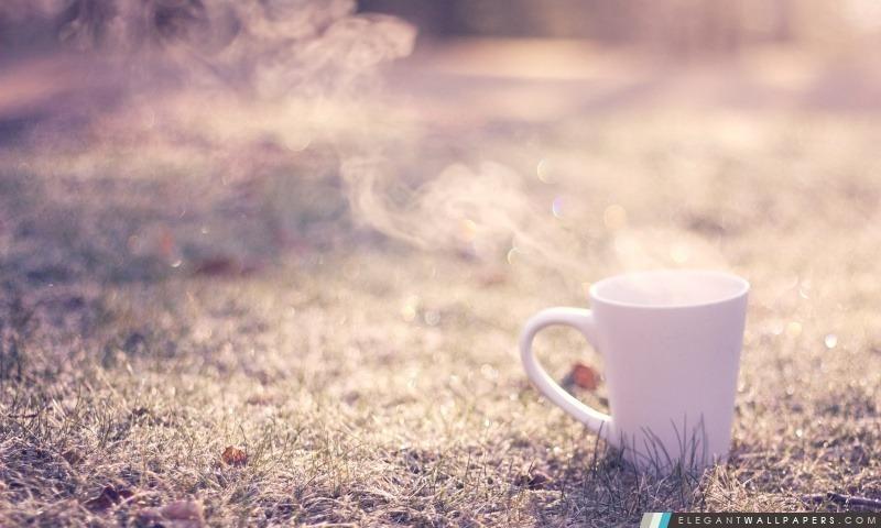 Tasse de thé chaud, Arrière-plans HD à télécharger