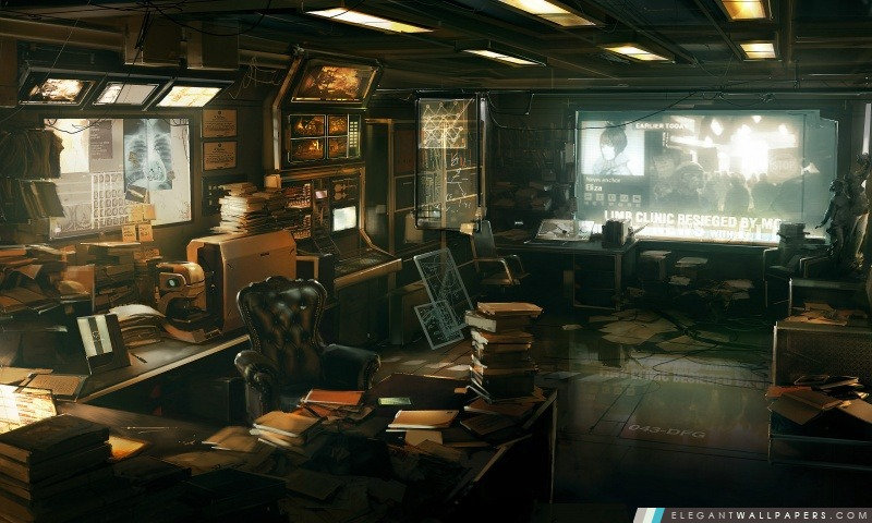 Deus Ex Human Revolution motifs, Arrière-plans HD à télécharger