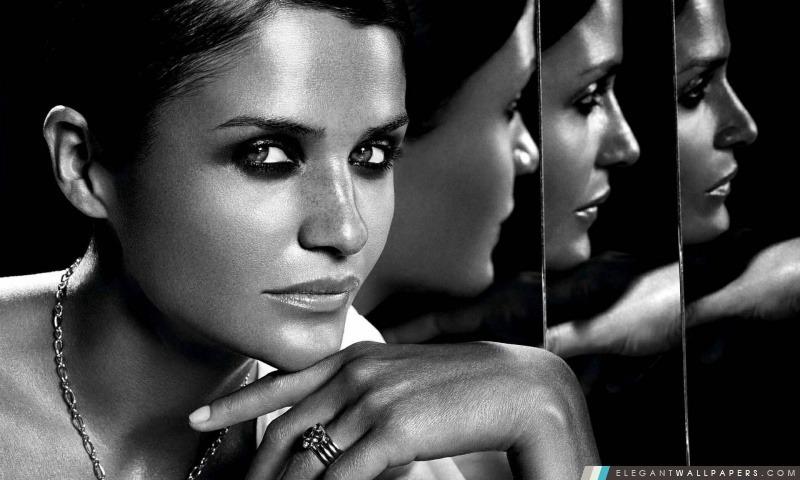 Portrait De Femme En Noir Et Blanc Fond D Ecran Hd A