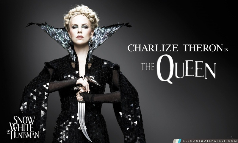 Blanche-Neige et le chasseur, Charlize Theron comme la Reine, Arrière-plans HD à télécharger