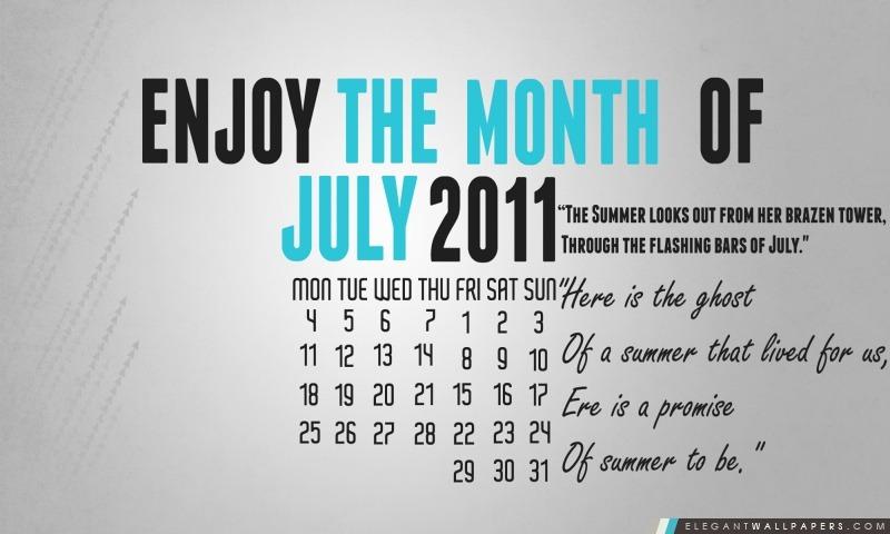 Juillet 2011, Arrière-plans HD à télécharger