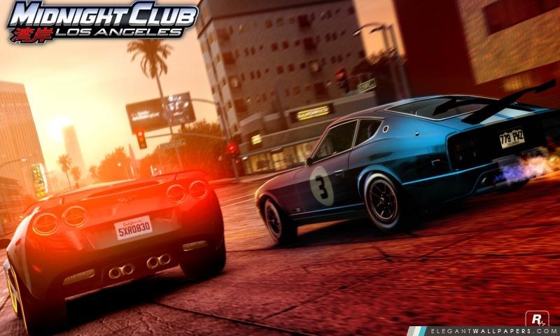 Midnight Club Los Angeles vs Corvette 280Z, Arrière-plans HD à télécharger