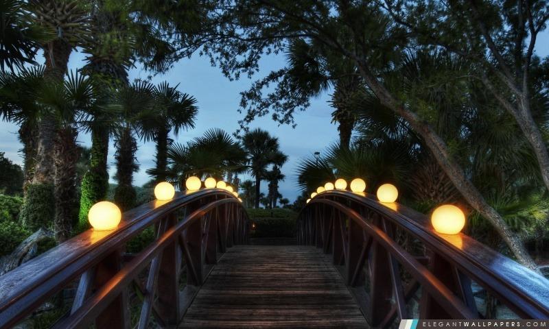 Pont éclairé, Arrière-plans HD à télécharger
