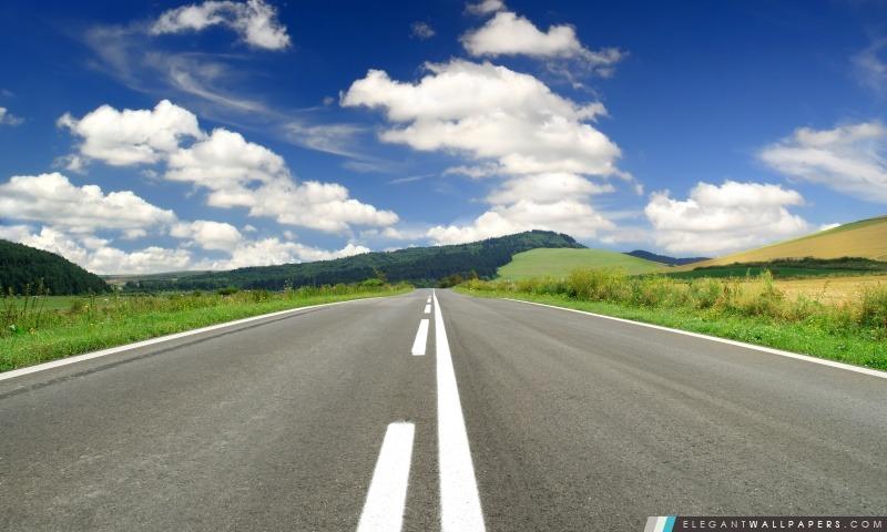 Route déserte, Arrière-plans HD à télécharger