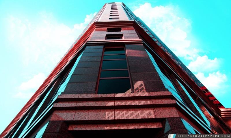 Rouge Gratte-ciel, Arrière-plans HD à télécharger