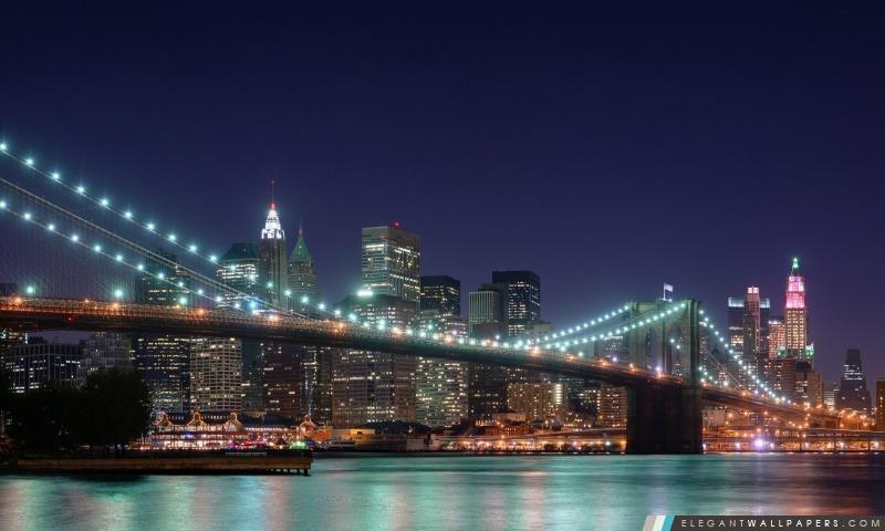 Pont de Brooklyn, New York, Arrière-plans HD à télécharger