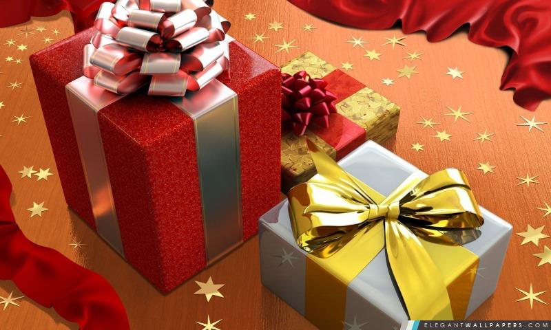 Cadeaux de Noël, Arrière-plans HD à télécharger
