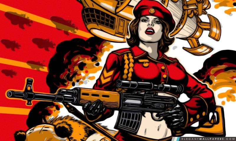 RA3 fille armée soviétique, Arrière-plans HD à télécharger