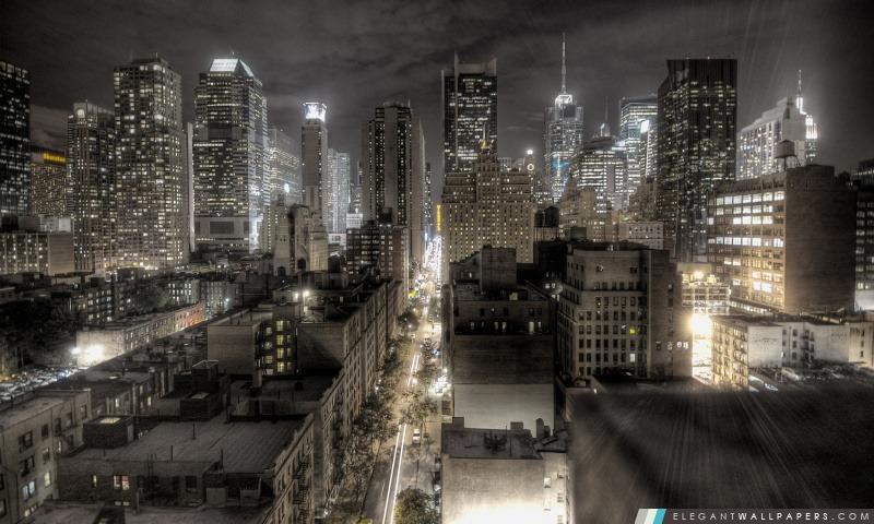 New York La Nuit Fond Décran Hd à Télécharger Elegant