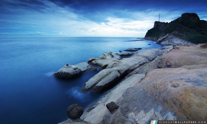 Pêche En un rivage rocheux, Arrière-plans HD à télécharger