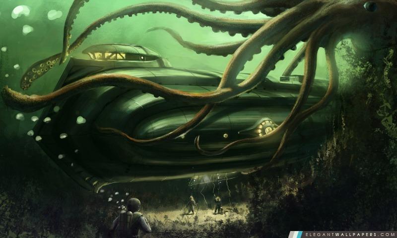 Peinture sous-marine sous-marin, Arrière-plans HD à télécharger