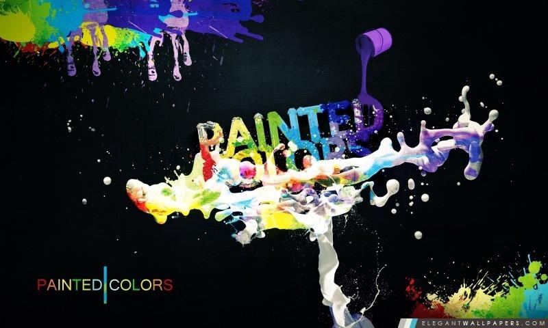 Peinture colorée, Arrière-plans HD à télécharger