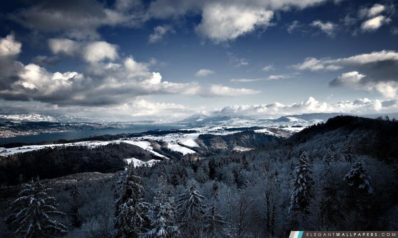 Vue panoramique de montagnes, Arrière-plans HD à télécharger