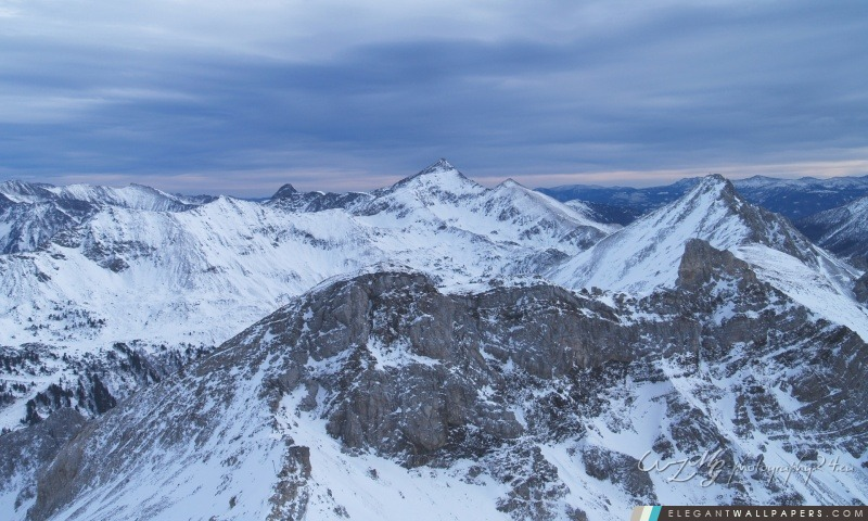 Alpes En hiver, Arrière-plans HD à télécharger