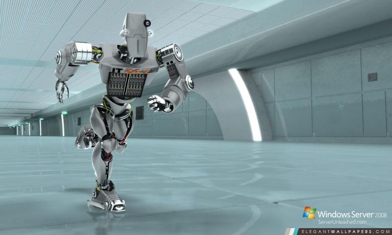 Windows Server 2008 Unleashed IT 24-7 Robot, Arrière-plans HD à télécharger