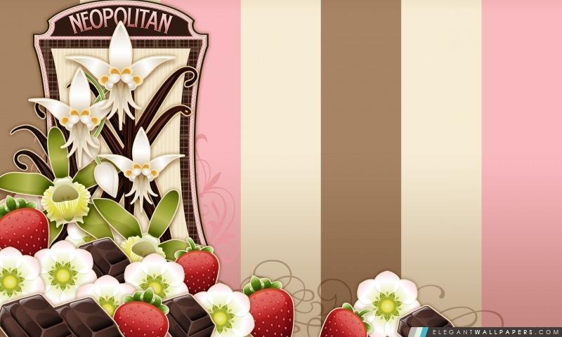 Fleurs Fruits et chocolat, Arrière-plans HD à télécharger