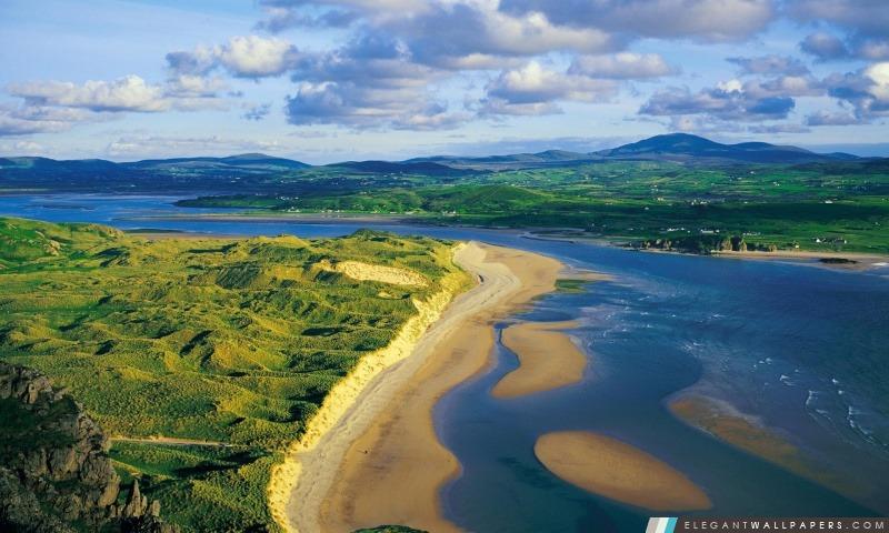Inishowen Trawbreaga Bay Five Finger Plage, Arrière-plans HD à télécharger