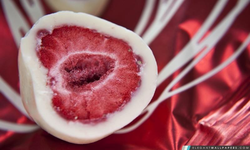 Strawberry Ice Cream couché, Arrière-plans HD à télécharger