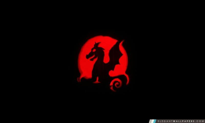 Sculpture de dragon de potiron, Arrière-plans HD à télécharger