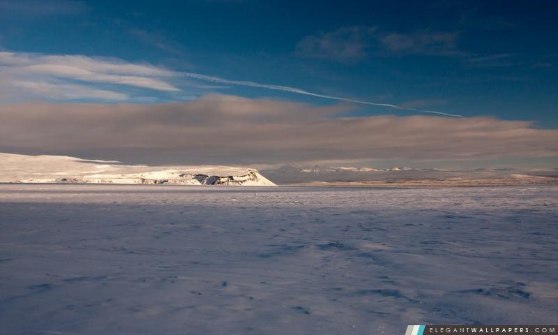 Paysage d'hiver, l'Islande, Arrière-plans HD à télécharger
