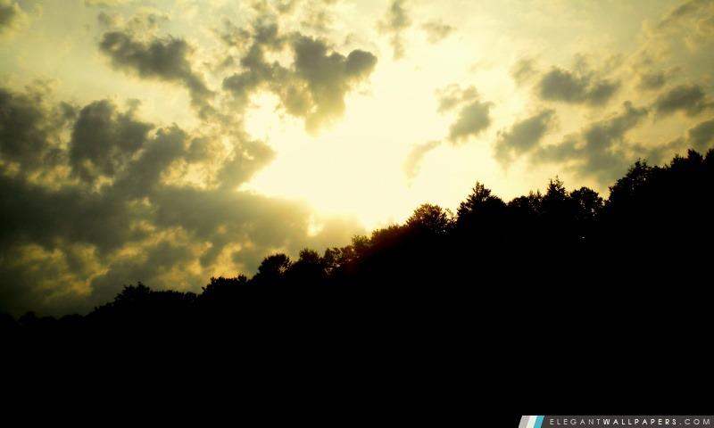 Coucher de soleil sur la colline, Arrière-plans HD à télécharger