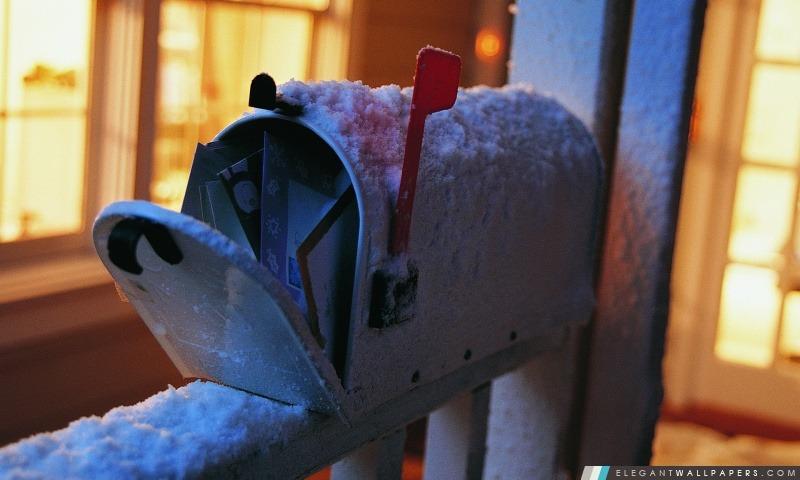 Boîte aux lettres de neige, Arrière-plans HD à télécharger