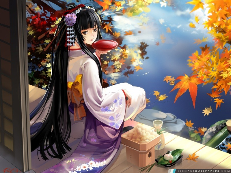 Automne Anime Paysage, Arrière-plans HD à télécharger