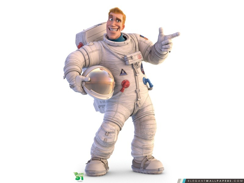 Le capitaine Charles Chuck Baker Planet 51, Arrière-plans HD à télécharger