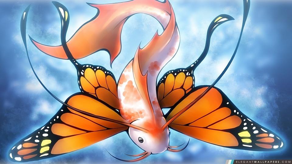 Poissons de papillon, Arrière-plans HD à télécharger