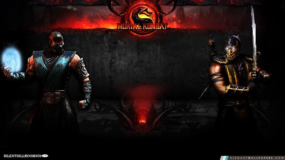 Sub Zero Vs Scorpion Fond Décran Hd à Télécharger Elegant Wallpapers