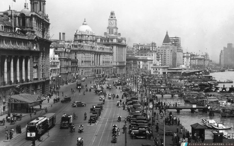 Shanghai 1930. Fond d'écran HD à télécharger | Elegant Wallpapers
